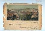 """Bird's-Eye View of Cincinnati (""""and Newport, KY"""")"""