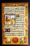 Illuminated manuscript with floral details