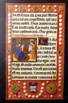 Illuminated manuscript with Monk scene
