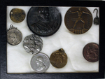 Coin collection including: Queen Victoria, Marquis Cornwalins, Chicago century coin, industry coin and others