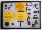 Roman Dug artifacts, Celtic tool, and Saxon artifacts