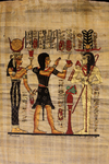 Egyptian papyrus painting (modern copy)