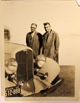 Two Men with a Michigan Car