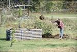 BFEC Matt Brown at garden composting