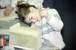 Child making bluebird house, BFEC