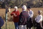 BFEC Advisory Board Walk Marilyn Stokes, Phil Jordan, David and Joan at bluebird box