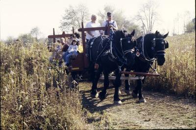 BFEC 5th Anniversary celebration hay ride horses