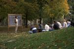 Kenyon Siobhan teaching outside