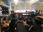 Kenyon Students and Columbia Elementary Students Discussing Border Literature