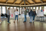 Kenyon students setting up for Borders in Play