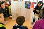 Eduardo Vargas and Students Discussing Poster
