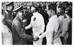Hitler Greeting German Olympic Athlete At Olympic Games 1936