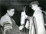 Jewish Refugees Holding Torah