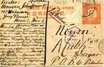 Postcard from Hermann Schaffraiuski in Shanghai Ghetto to Atuleh, Palestine