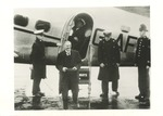 Neville Chamberlain Arriving at Heston Airport