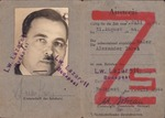 Hungarian ID Card of Jewish Man with Red 'Z' on Cover