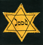 Dutch Yellow Star of David Jews Forced to Wear