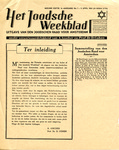 "First Edition Copy of ""Het Joodsdhe Weekblad,"" Amsterdam Jewish Counsel Newsletter"