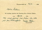 Beit Theresienstadt Central Card Index for Elizabeth Rosa Ornstein