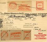 Card Regarding Aryanization of Jewish-owned Victor Wolf Company, Dreiturm Seife