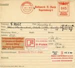 Francotyp Card Tracing Arianization of Jewish-Owned Company by Reichwerke Hermann Goering