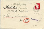 Letter to Jawslaw Sadlick, Dora-Sangerhausen, from Josef Sadlick, Prague