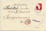 Letter to Jawslaw Sadlick, Dora-Sangerhausen, from Josef Sadlick, Prague