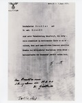 Copy of Letter from Adolf Hitler to Reichsleiter Bouhler and Dr. Med. Brandt (copy from USHMM)