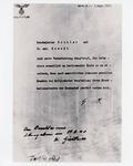 Copy of Letter from Adolf Hitler to Reichsleiter Bouhler and Dr. Med. Brandt (copy from USHMM)
