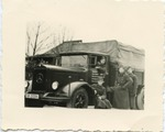 Daimler-Benz Truck with Four German Soldiers