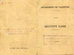 Palestine (Jerusalem) Identification Card