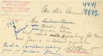Arrest Warrant from Vilna Ghetto