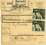 Parcel Card from Siedlce, Poland