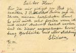Postcard from Przemysl Ghetto to Alfred Schwarzbaum in Switzerland