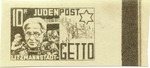 Litzmannstadt Judenpost Stamp depicting Jewish Elder head Chaim Rumkowski