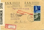 Envelope from Jewish Social Aid Societies, Krakau Ghetto  to Buenos Aires, Argentina