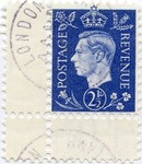 German Anti-British Propaganda Stamp: King George With Crown Surmounted by Star of David p
