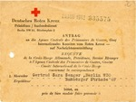 German Red Cross Letter