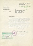 Letter to Karl Wolff Signed by Viktor Brack