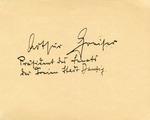 Arthur Greiser's Autograph