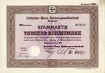 Daimler-Benz AG Stuttgart Stock