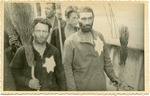 Men with Star of David patch and brooms (Holocaust in Ukraine)