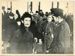 German soldiers speaking to Jewish man (Holocaust in Ukraine)