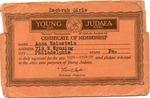 Young Judea Certificate of Membership