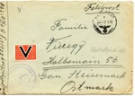 German Occupation Feldpost Cover Norway with 'Viktoria' Vignette