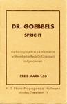 Dr. Goebbels Spricht Postcard Set