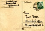 Postcard from Oberhausen to Frankfort, Germany in Yiddish