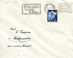 Envelope Celebrating Return of the Saar