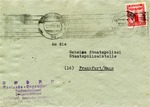 Envelope from Dusseldorf, Germany to Gestapo Offices in Frankfort