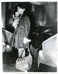 Helga Kreiner of First Kindertransport Arrives in Harwich, England